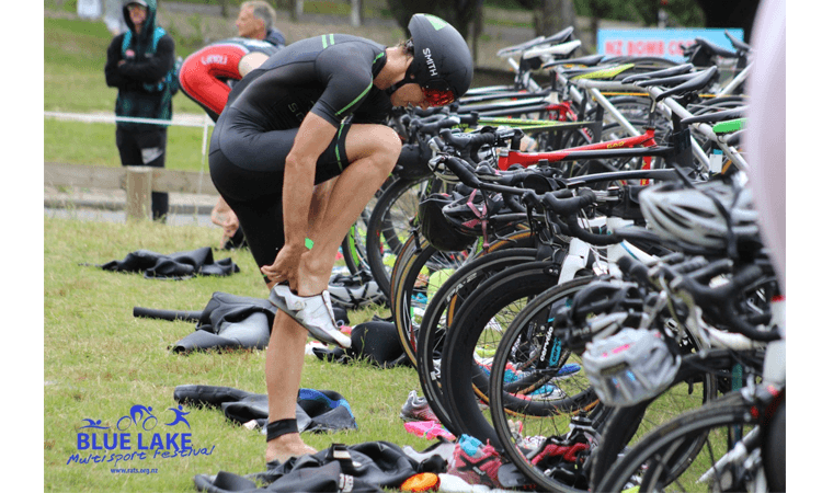 Blue Lake Multisport Festival 2020 Rotorua Bike Transition