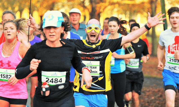 Christchurch Marathon runners in action