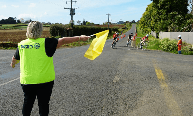 Counties Cycle Classic Road Bike Challenge Pukekohe Auckland riders and volunteer