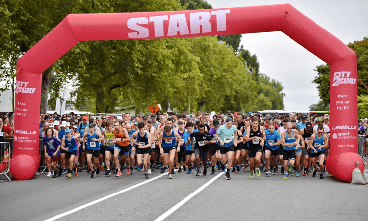 Les Mills City2Surf Fun Run Christchurch