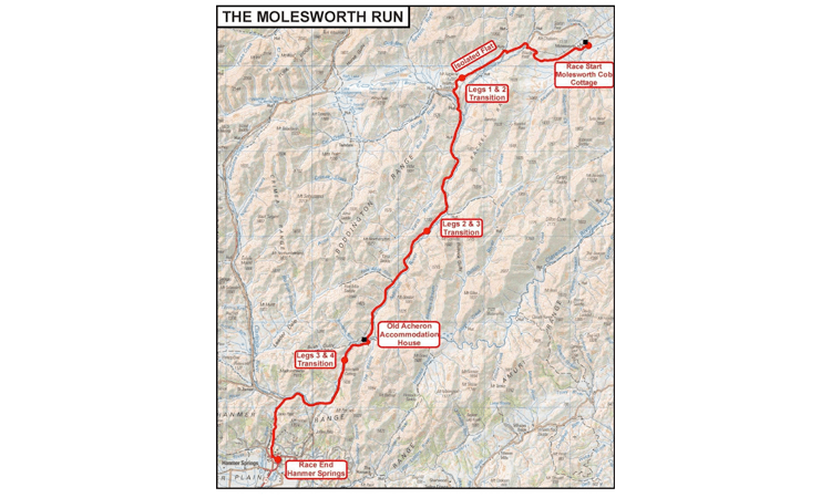Molesworth Run Ultra in Marlborough route map