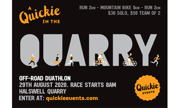 A Quickie in the Quarry Christchurch duathlon poster