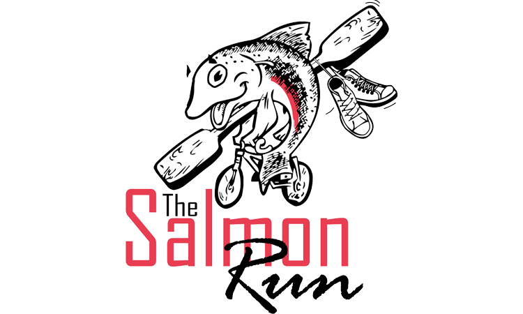 The Salmon Run Multisport Event Rakaia Domain Canterbury logo
