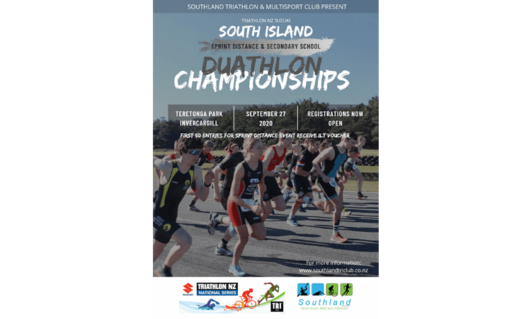South Island Duathlon Championships Invercargill poster