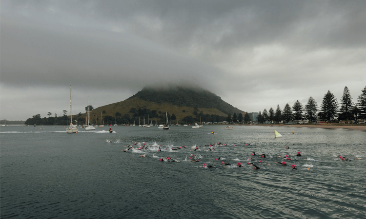 Tinman Triathlon Mount Maunganui Swimmers