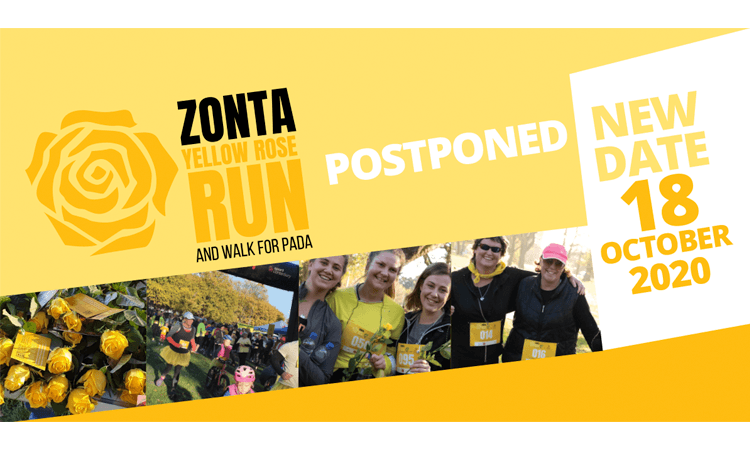Zonta Yellow Rose Run and Walk for PADA logo